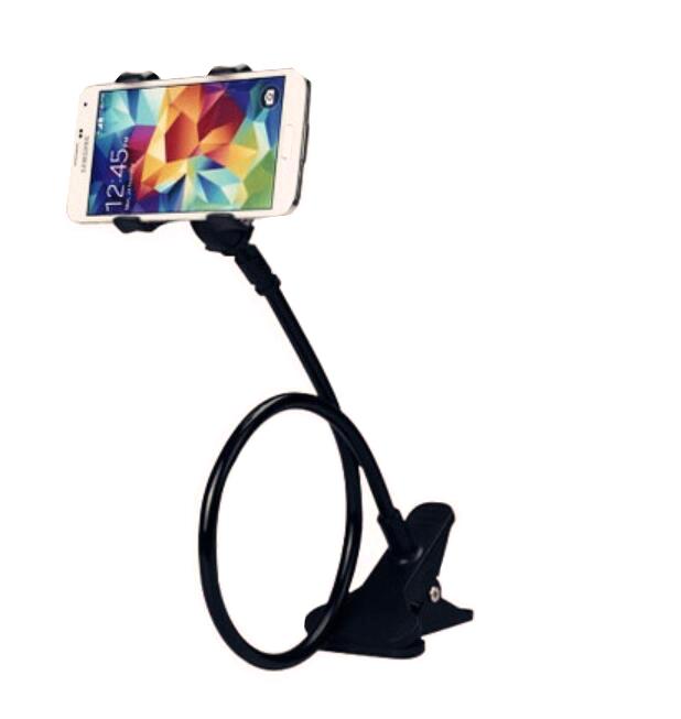 Držák mobilu na postel nebo stůl, černý
