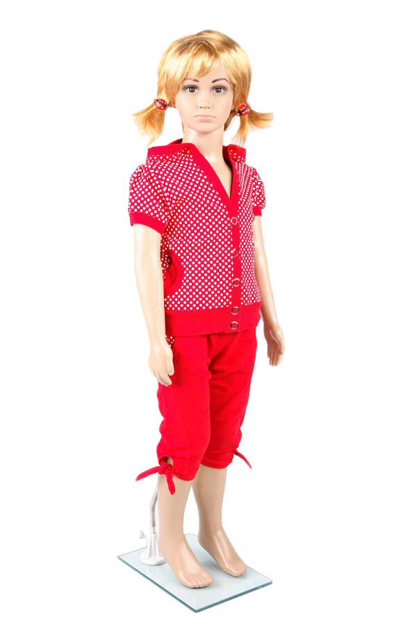Dětská figurína, manekýna v tělové barvě holka
