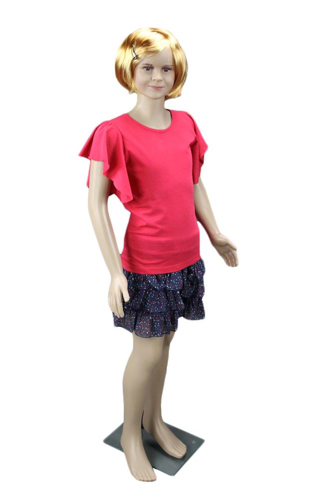 Dívčí figurína, manekýna v tělové barvě holka 140cm