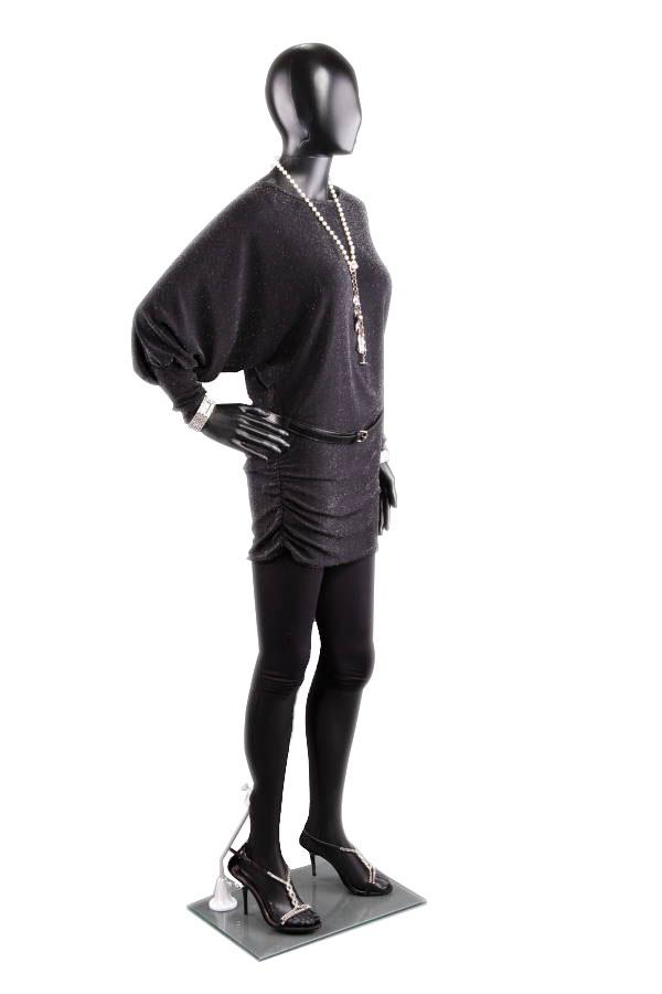 abstraktní dámská figurína, manekýna černá F1B