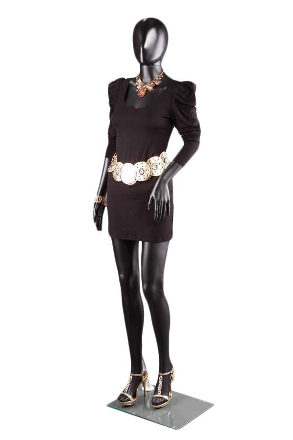abstraktní dámská figurína, manekýna černá F3B