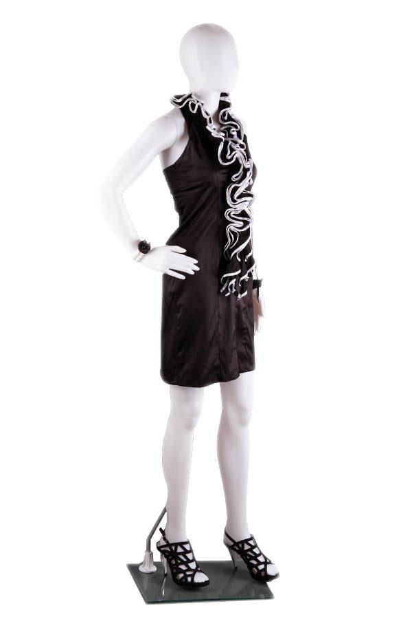 abstraktní dámská figurína, manekýna bílá FC11W