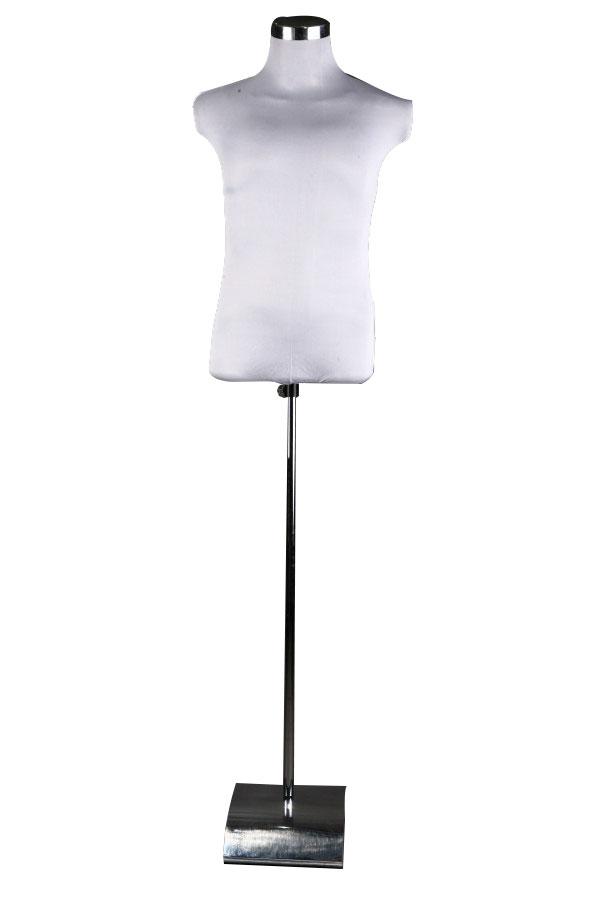 Krejčovská panna pánská figurína bílá