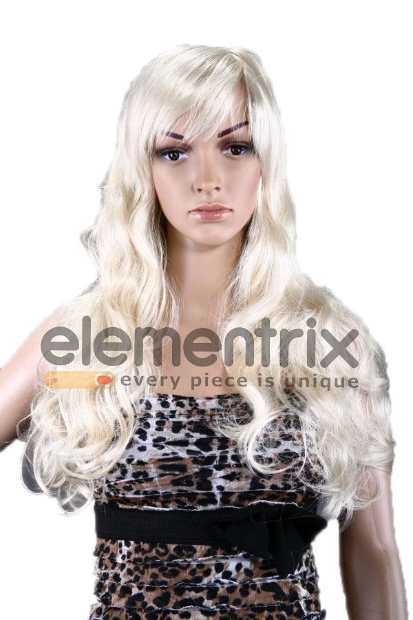 Dámská paruka, středně dlouhá blond  7003