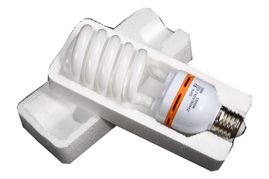Žárovka, spirálová zářivka 35W/180W 5500K