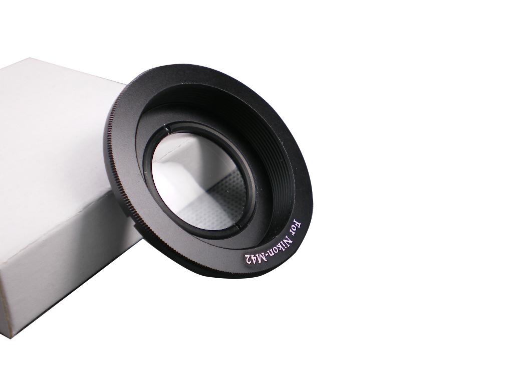 M42 Nikon adaptér s optickým členem