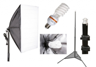 Softbox 50x70cm 35W, stativ streaming youtube