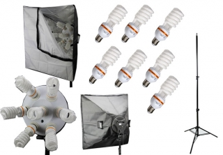Elementrix softbox set lampa 7x35W, stativ