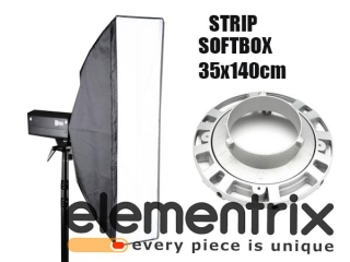 Elementrix strip softbox otočný 35x140cm bowens